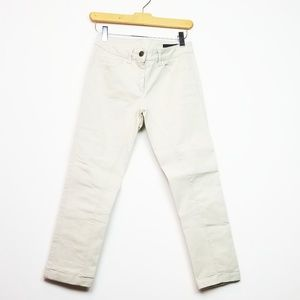 Alexander McQueen Cropped Khaki Skinny Jeans